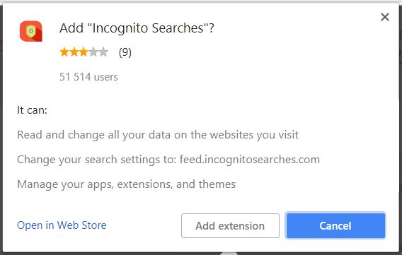 Incognito Suche Verhalten in den betroffenen Browser