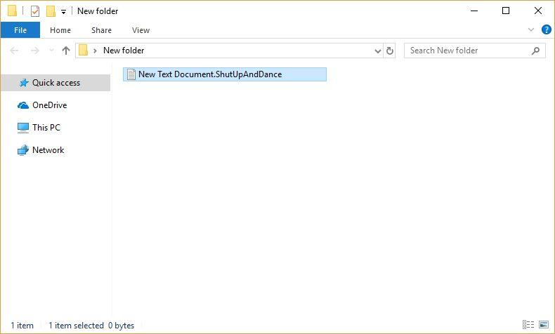 ShutUpAndDance Virus image ransomware note .ShutUpAndDance extension
