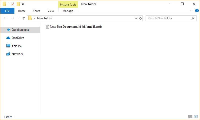 CMB Dharma Virus Virus image ransomware note  .cmb extension