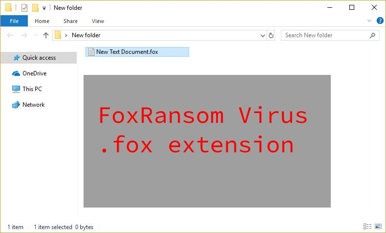 FoxRansom Virus image ransomware note .fox extension