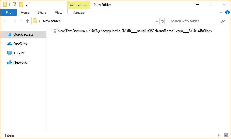 RotorCrypt virus image ransomware note .AlfaBlock extension