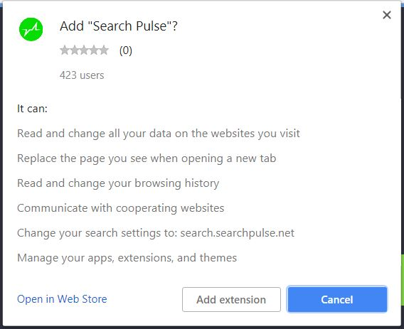 search pulse permissions in affected browser