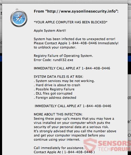 """Remove """"YOUR MAC HAS BEEN BLOCKED"""" (Error #268D3) Scam"""