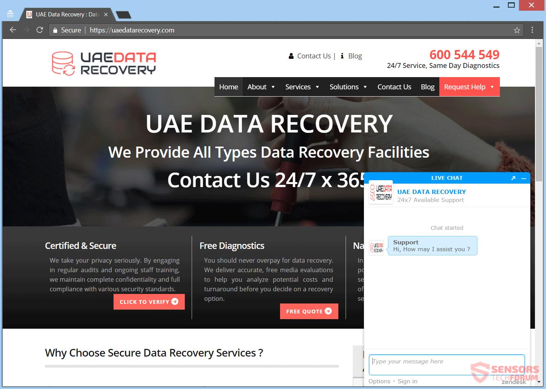Retire UAEdatarecovery.com estafa
