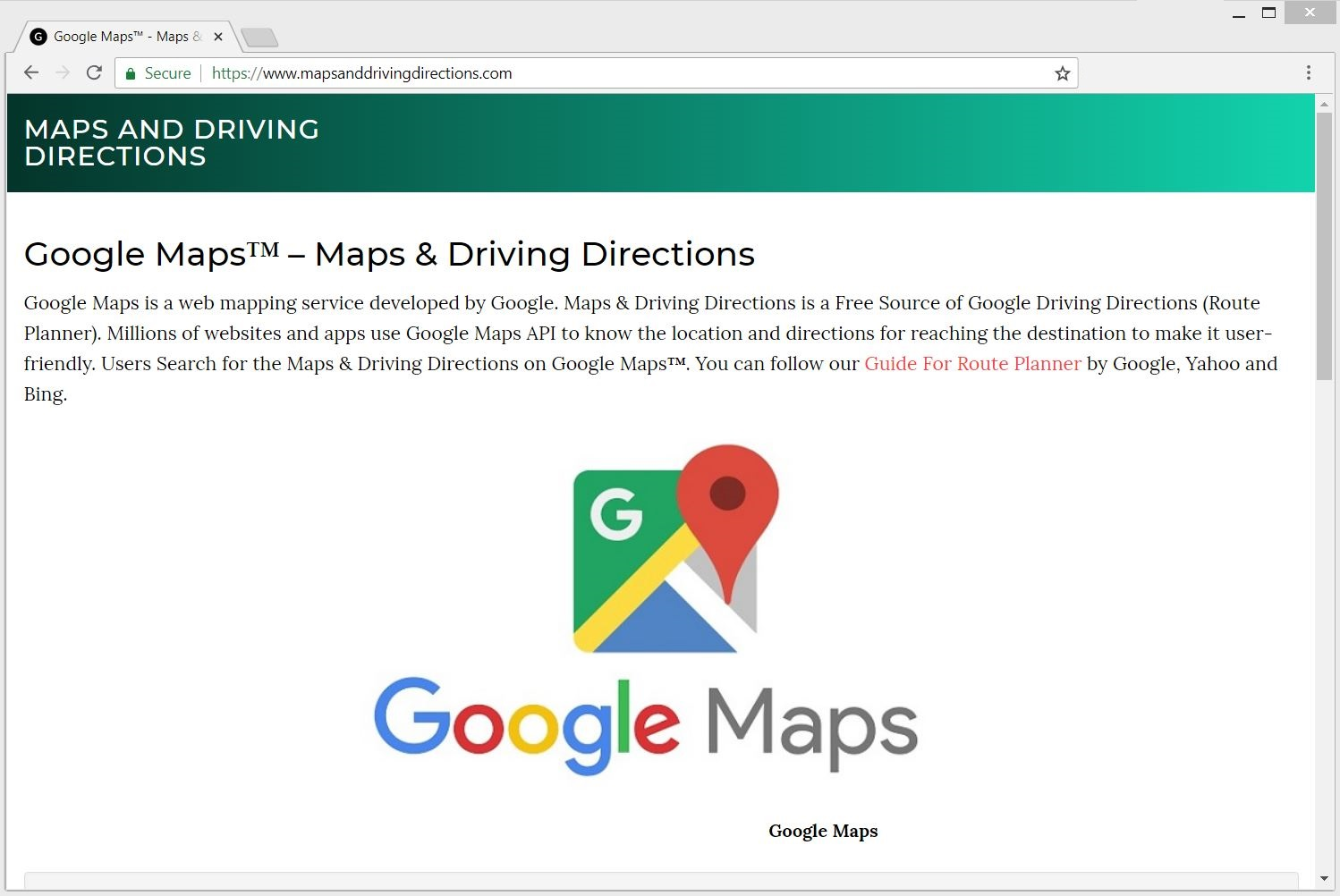Mapsanddrivingdirections.com redirect main page sensorstechforum how to remove guide