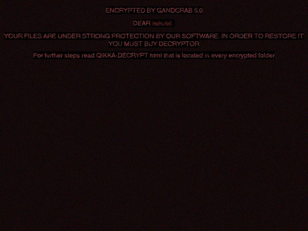 gandcrab v5 desktop løsesum tapet sensorstechforum