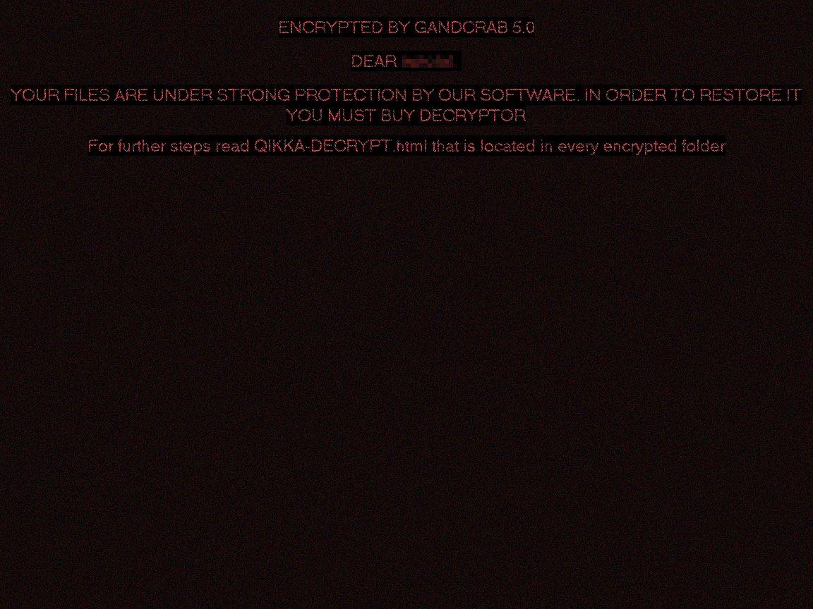 gandcrab v5 desktop ransom wallpaper sensorstechforum