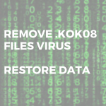 remove .KOK08 files virus restore data martix ransomware sensorstechforum