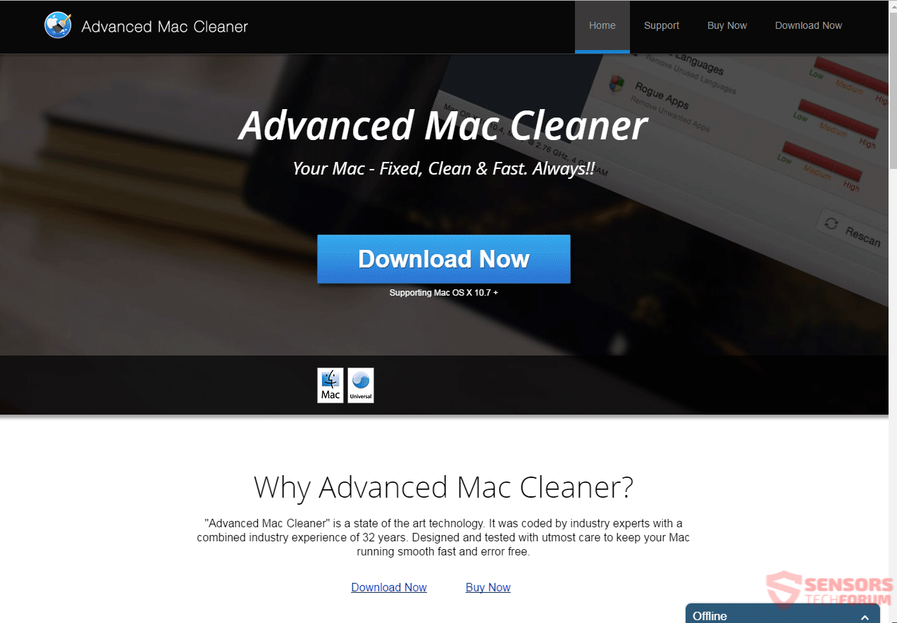 Retire avanzada Mac Cleaner 2018 PUP