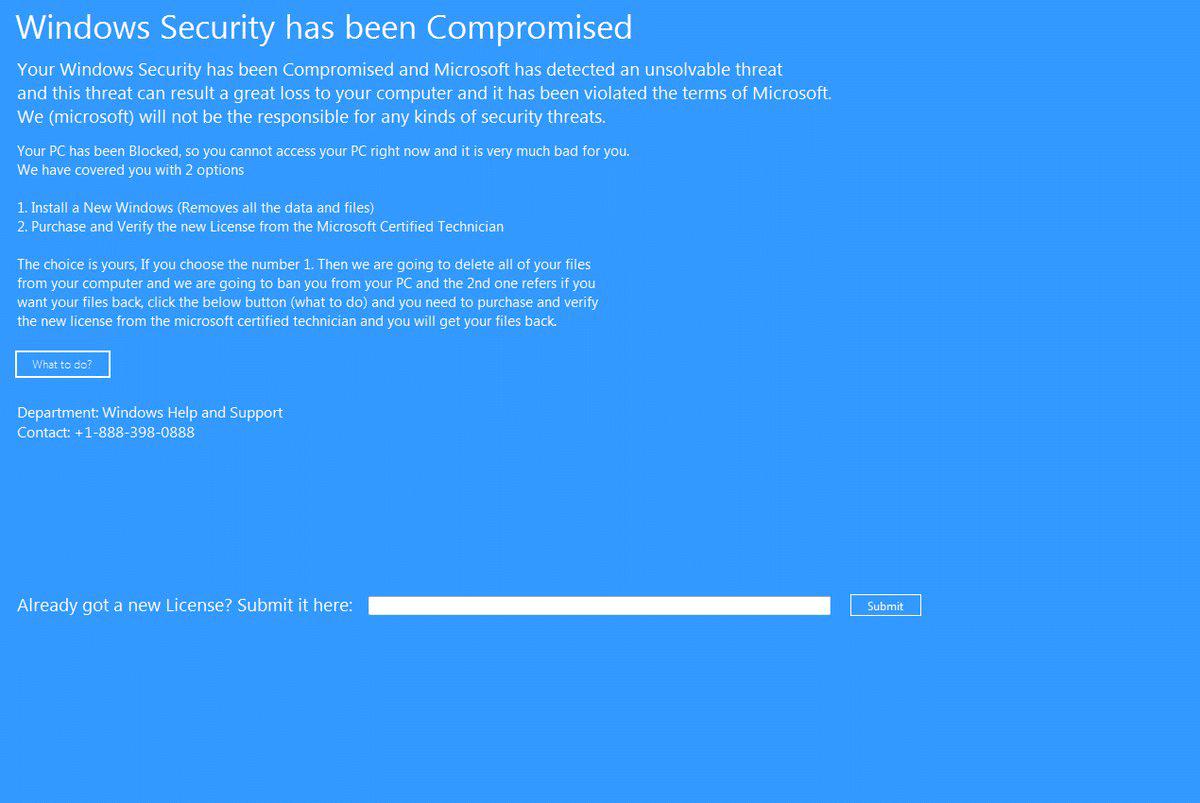 Remove ?Windows Security has been Compromised? Lockscreen