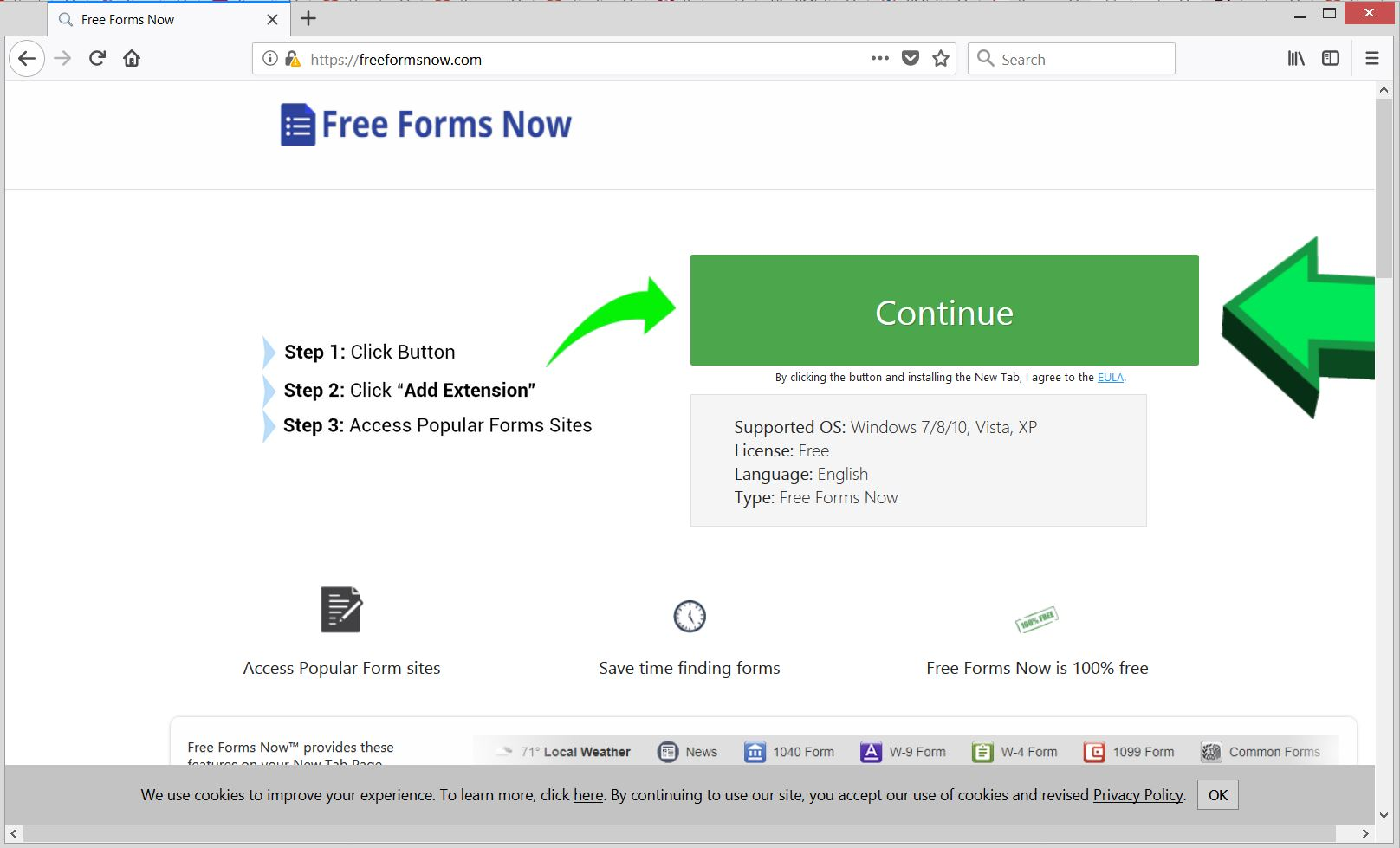 Freeformsnow.com navigateur redirect télécharger l'extension page officielle sensorstechforum