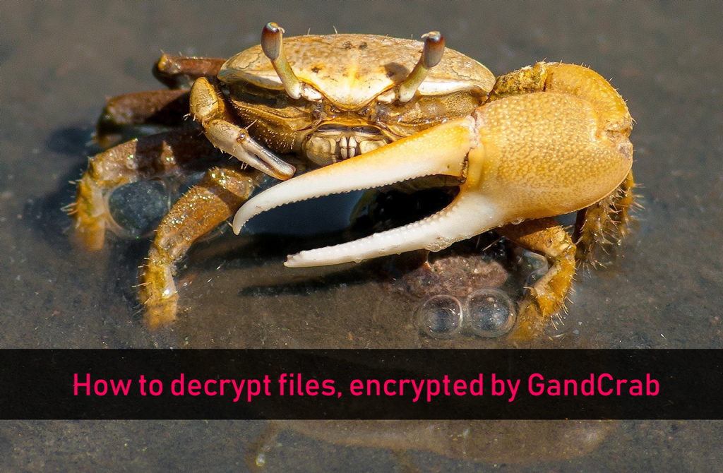 How to Decrypt Files Encrypted by GandCrab Ransomware (Free)