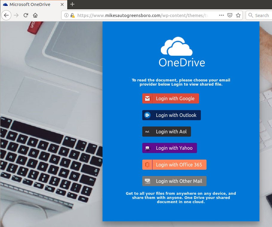 Remove OneDrive Phishing Scam — How to Protect Yourself