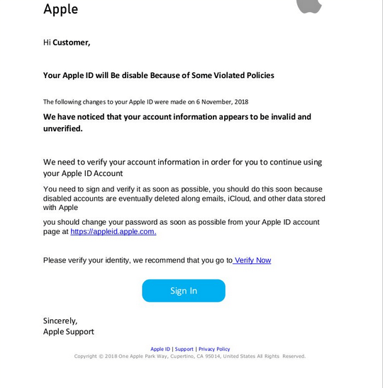 Apple ID Phishing Scam — WHAT IS IT + How to Remove