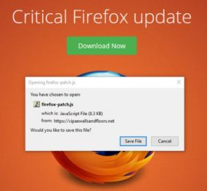 Critical Firefox Update (firefox-patch.js) Virus Scam ? How to Remove It