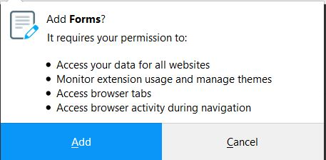 freeformsnow browser extension gained permissions sensorstechforum