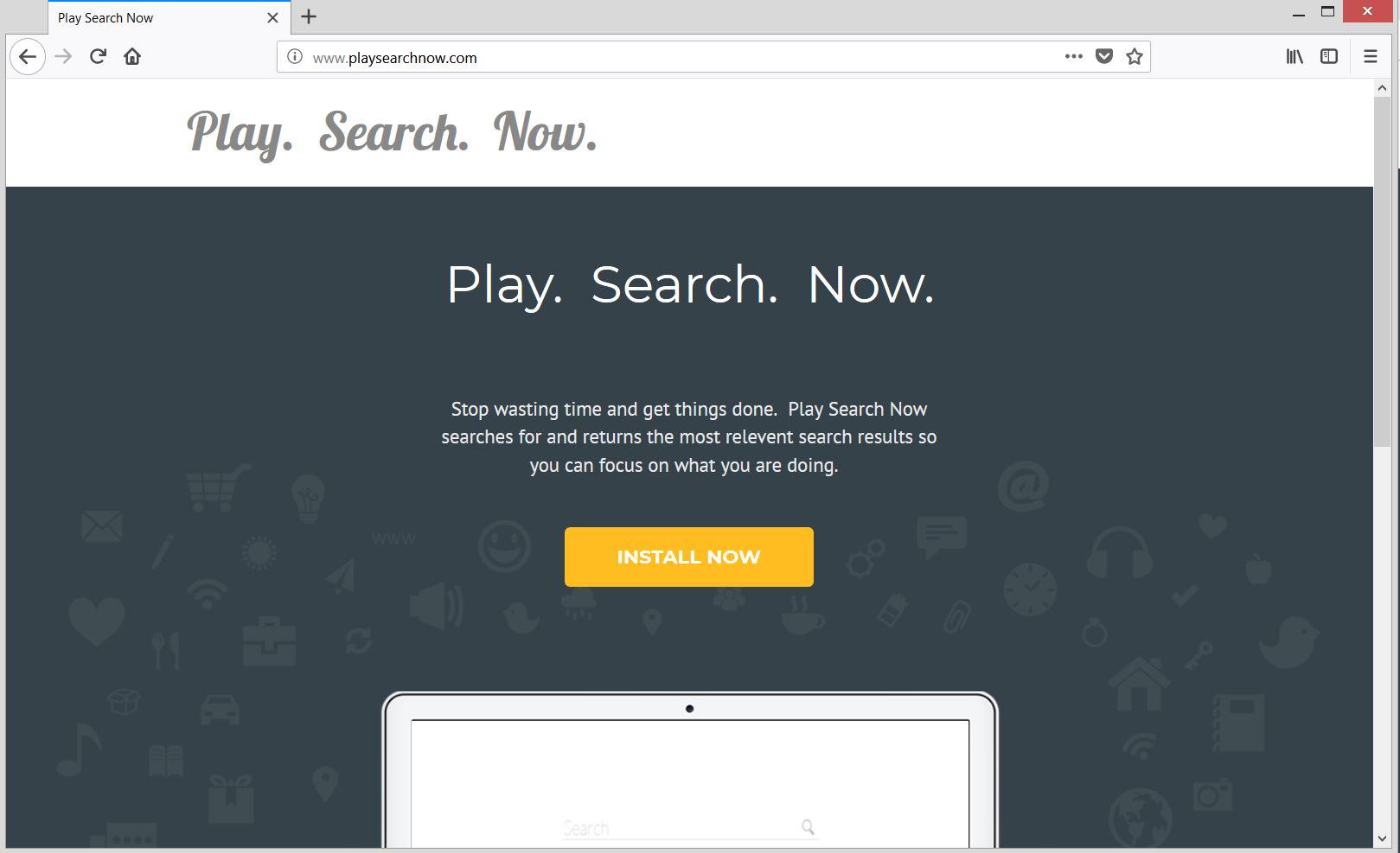 play search now PUP official website sensorstechforum