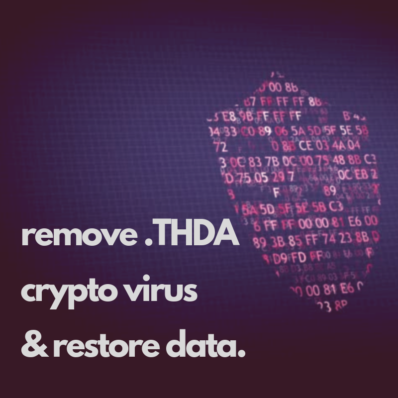 remove .THDA crypto virus restore .THDA files sensorstechforum guide