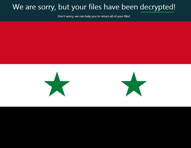 GandCrab Authors Release Decryption Keys for Syrian Citizens