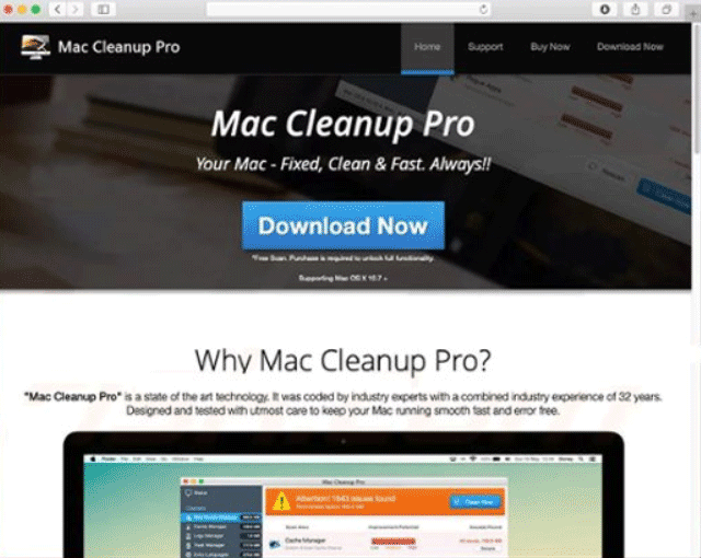 Remove Mac Cleanup Pro PUP