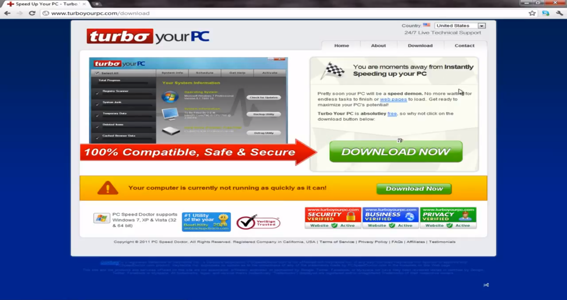 turboyourpc.com official website of turbo your pc fake system optimizer currently off sensorstechforum
