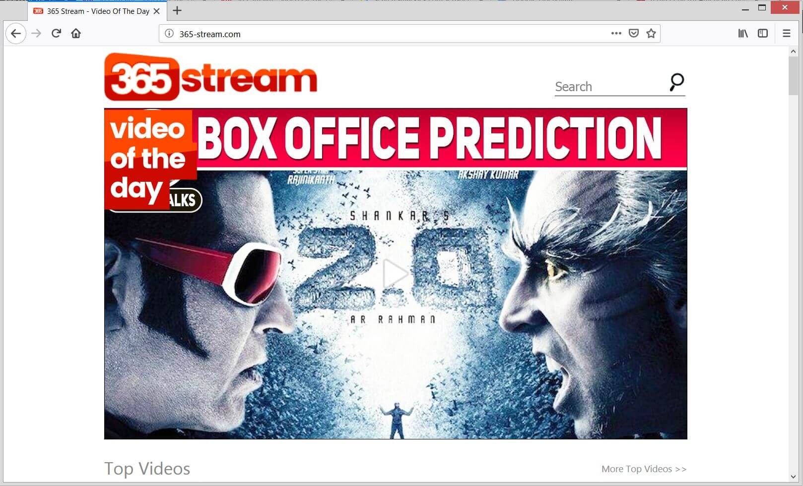 365-stream.com main page sensorstechforum removal guide