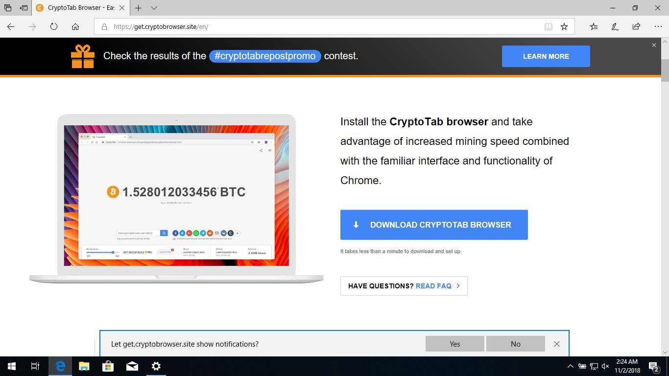 Remove CryptoTab Browser Hijacker