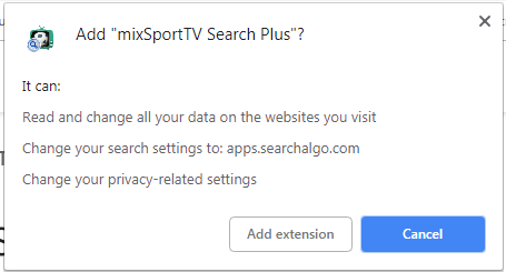 mixSportTV Search Plus obtained permissions sensorstechforum removal guide