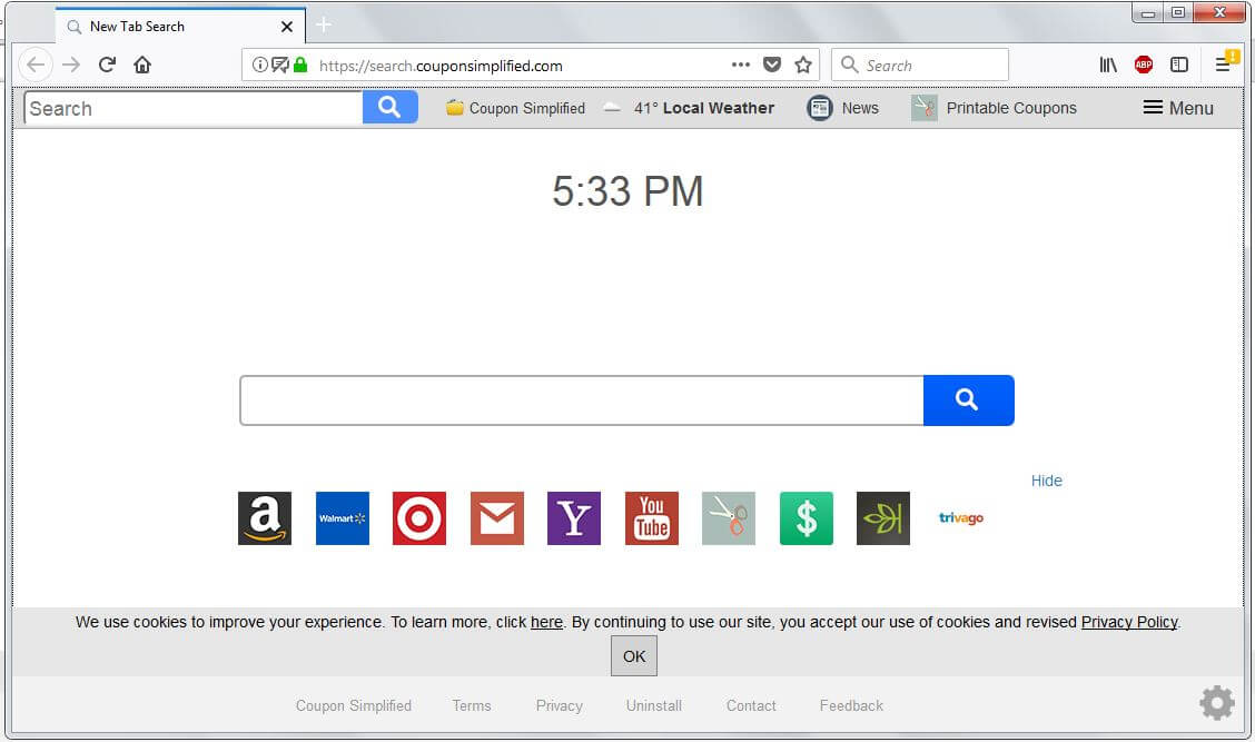 Remove Search.couponsimplified.com Browser Hijacker