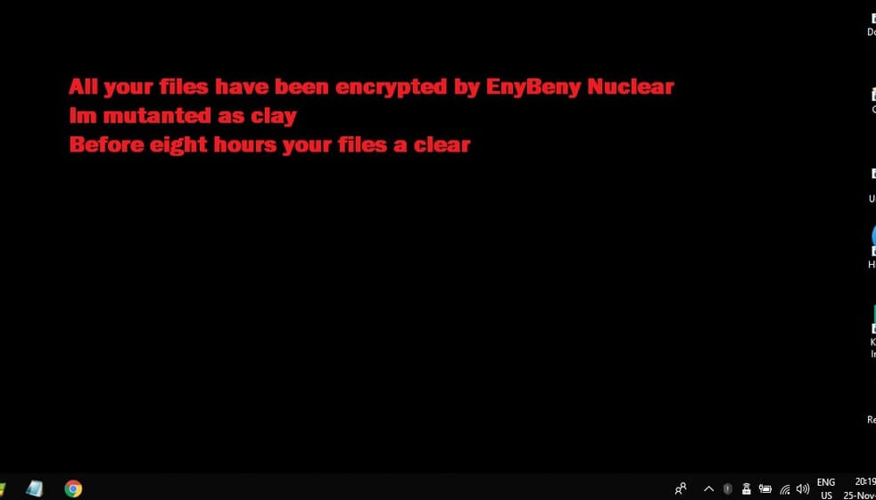 nuclear ransomware enybeny virus desktop background