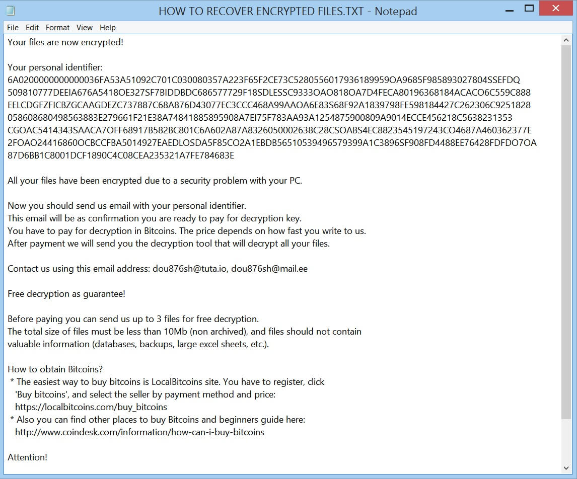 scarab crypted034 ransomware virus ransom note HOW TO RECOVER ENCRYPTED FILES text