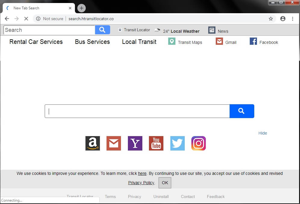 Remove Search.htransitlocator.co Browser Hijacker