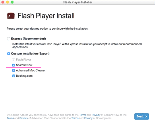 Remove SearchItNow Browser Hijacker for Mac