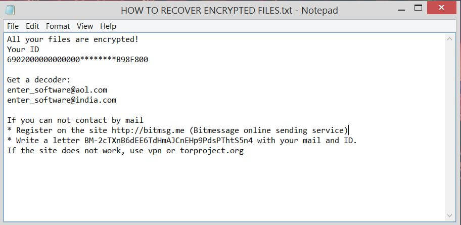 HOW TO RECOVER ENCRYPTED FILES.TXT Scarab .lol files virus ransom note sensorstechforum