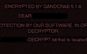 GANDCRAB 5.1.6 Ransom Virus - Come rimuovere E '