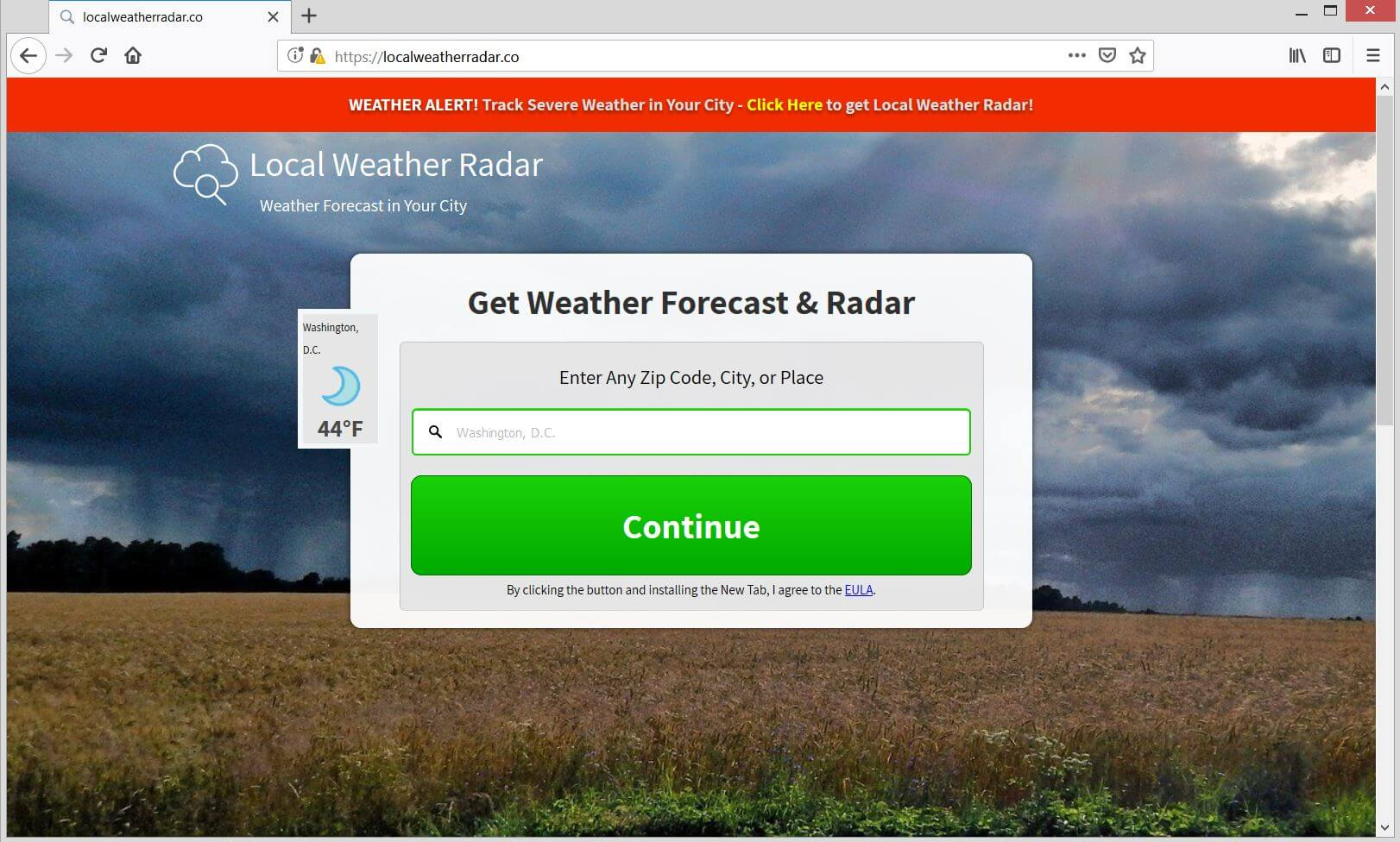 localweatherradar.co official website