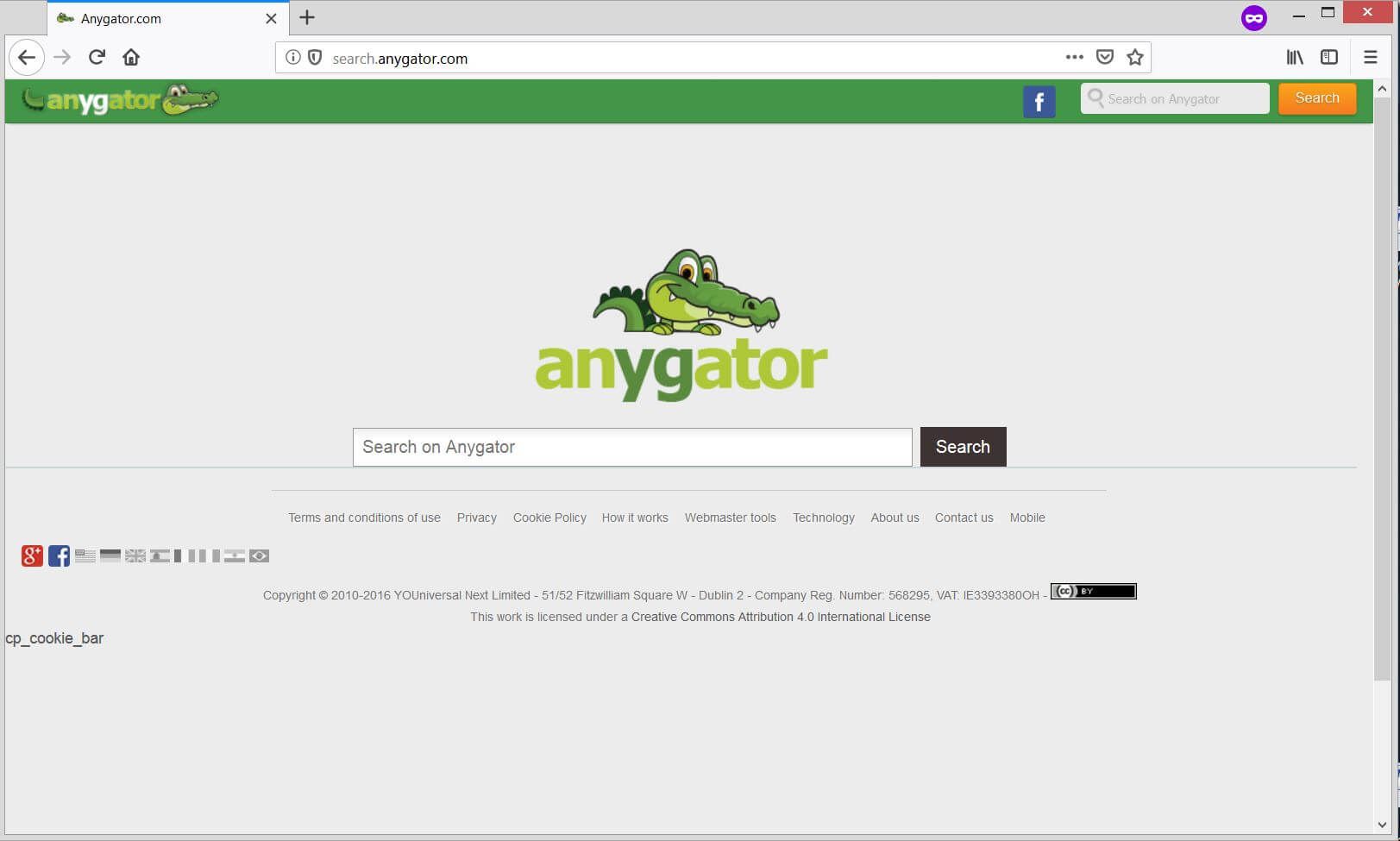search.anygator.com Browser-Hijacker sensorstechforum entfernen