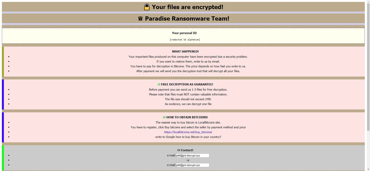 .VACv2 file Virus (Paradiso) - Come rimuovere