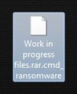 cmd ransomware virus krypteret fil