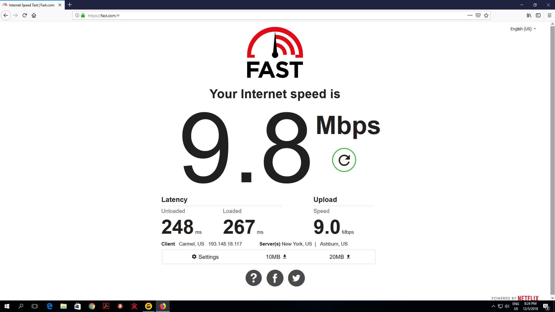 Cyberghost VPN Überprüfung netflix Geschwindigkeitstest