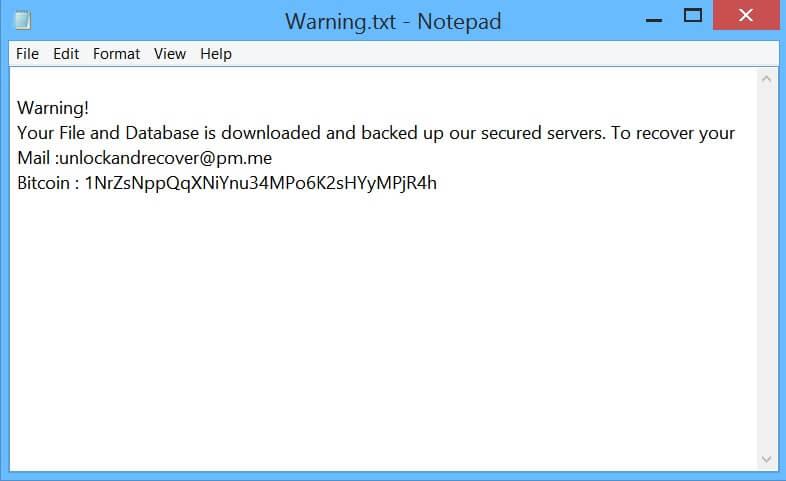 mongolock note Lösegeld Ransomware-Virus