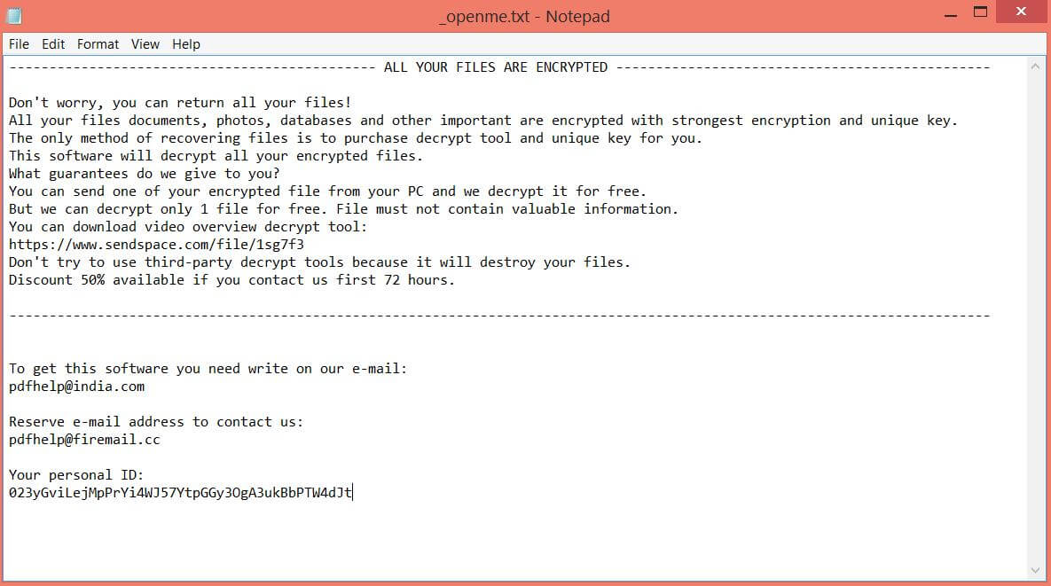 ransom note _openme.txt .tro files virus sensorstechforum