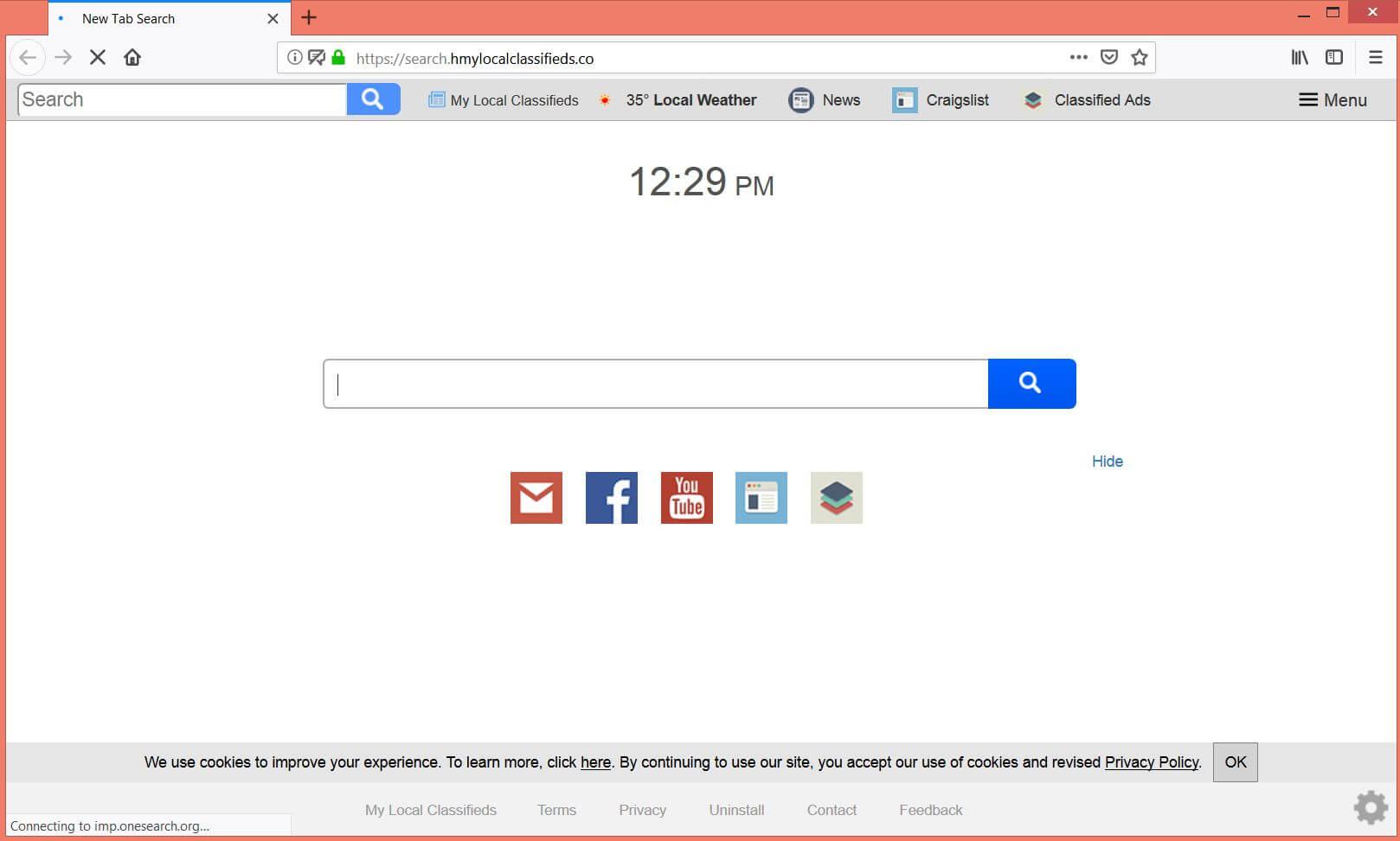 verwijderen Search.hmylocalclassifieds.co browser kaper sensorstechforum