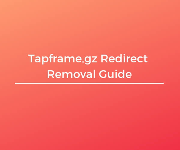 remove Tapframe.gz redirect sensorstechforum