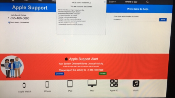 Remove VIRUS ALERT FROM APPLE Scam