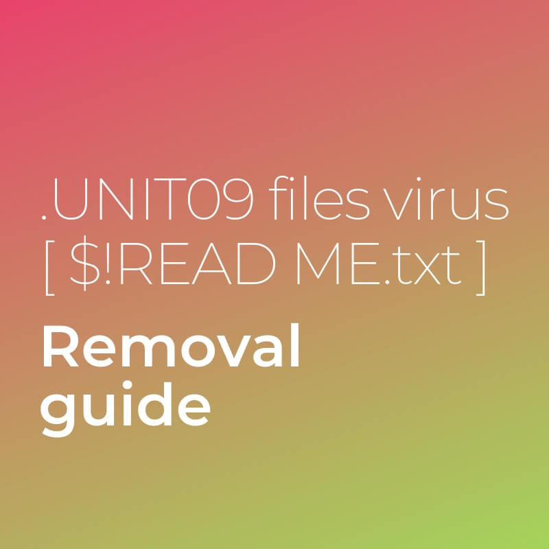 remove unite09 files virus sensorstechforum guide