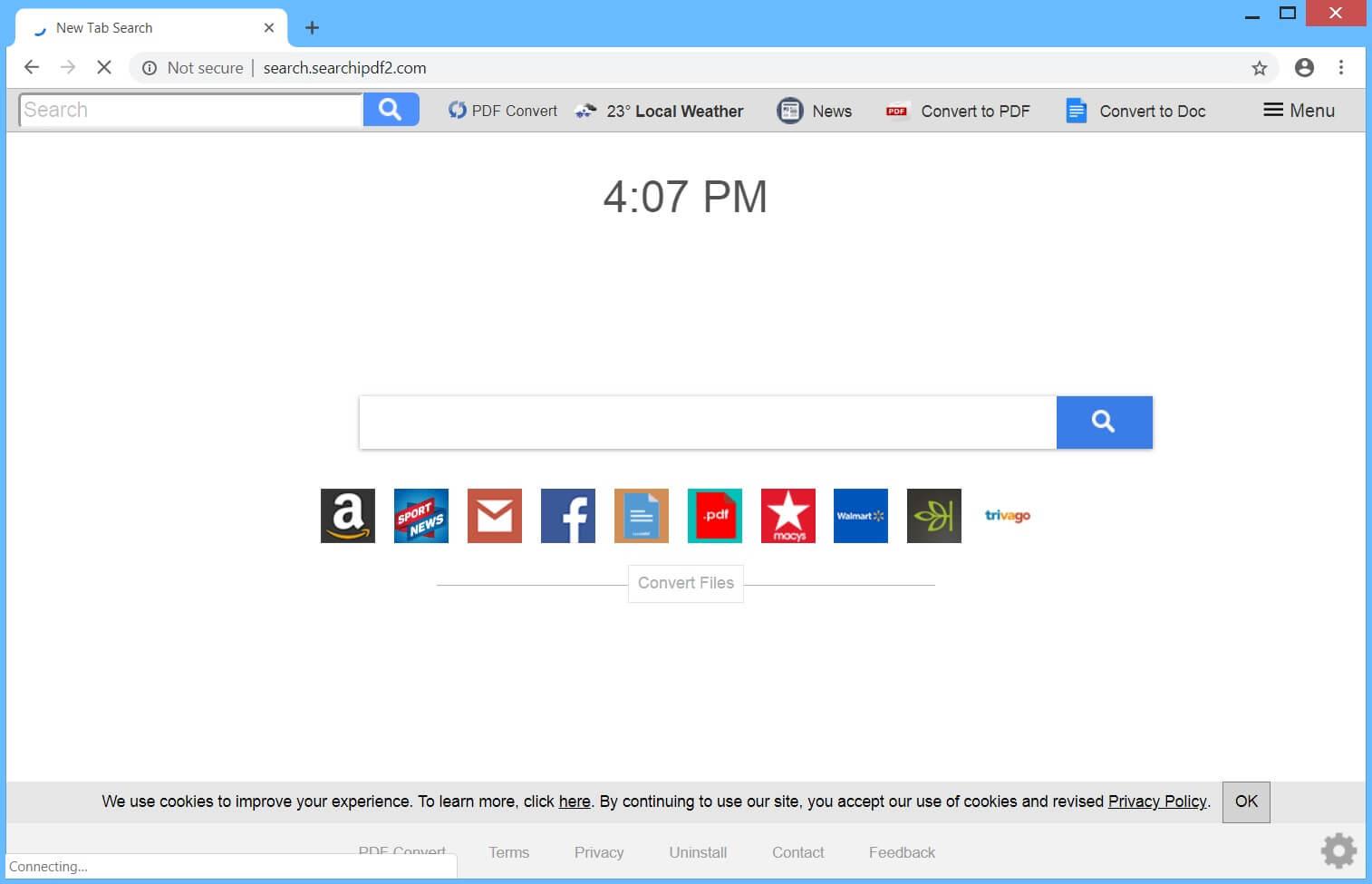 Fjern Search.searchipdf2.com Browser Hijacker