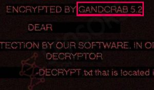 GANDCRAB 5.2 (v5.2) Ransomware Virus ? How to Remove It