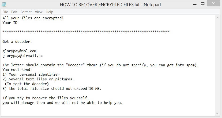 HOW TO RECOVER ENCRYPTED FILES TXT ransom note x3 files virus sensorstechforum guide