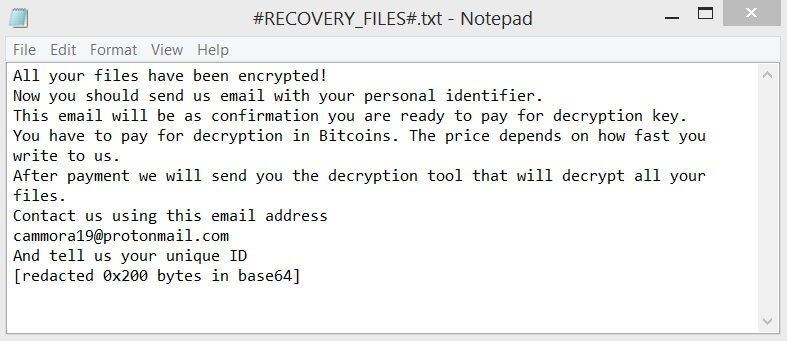 #RECOVERY_FILES#.txt ransom note .cammora files virus